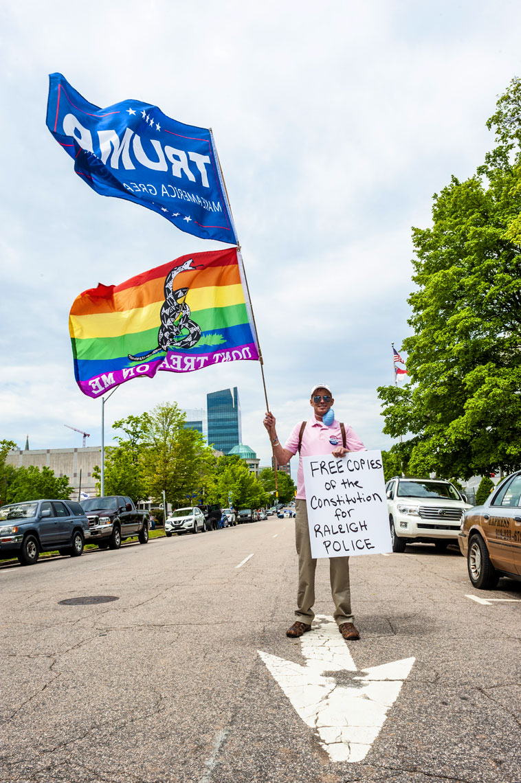 Raleigh Editorial Photography Bryan Regan ReOpen NC protest trump LGBT rights.