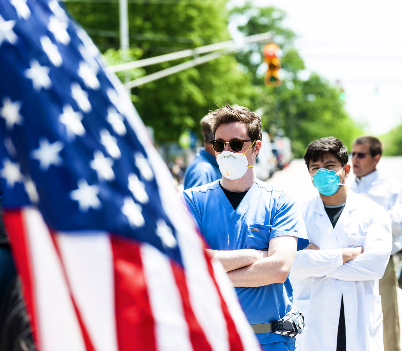Raleigh Editorial Photography Bryan Regan ReOpen NC protest doctor