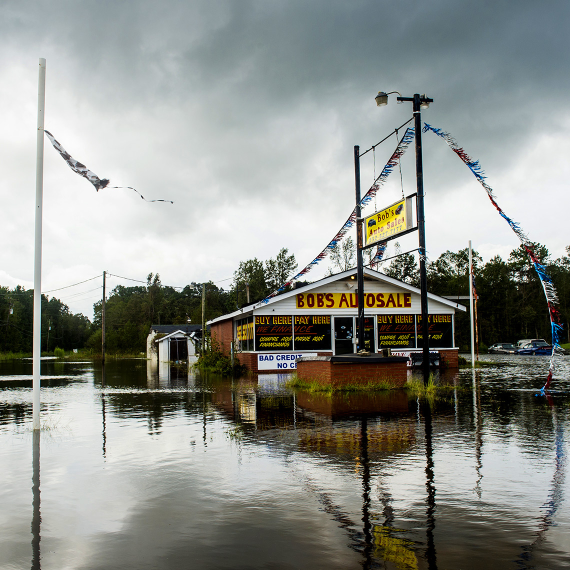 Raleigh reportage photography  Flood waters in Kinston NC