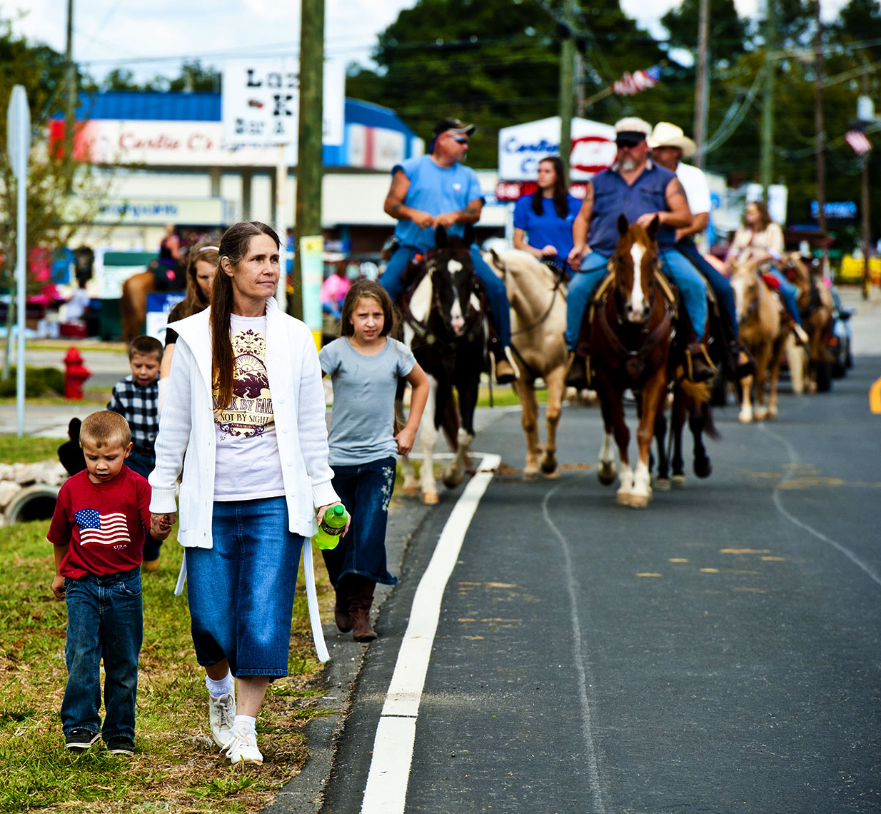 Raleigh editorial photography Bryan Regan Mule days Benson Main Street