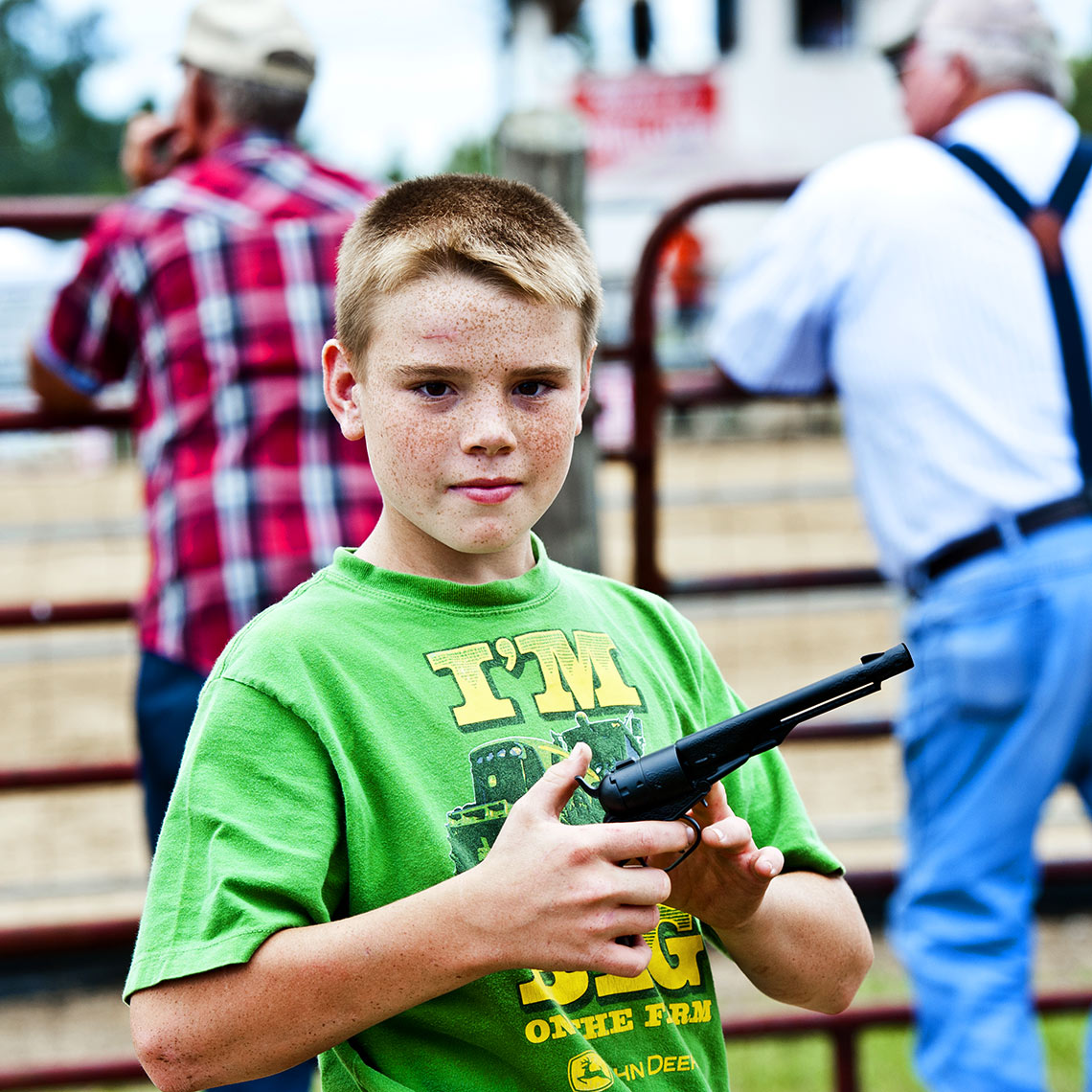 Bryan Regan Raleigh editorial photography Mule days Benson toy gun