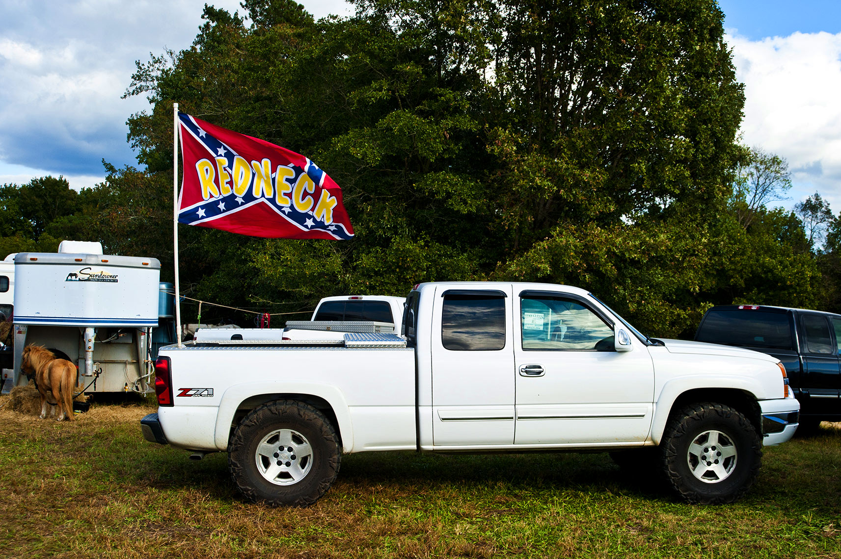 Redneck truck Mule days Benson Raleigh editorial photography