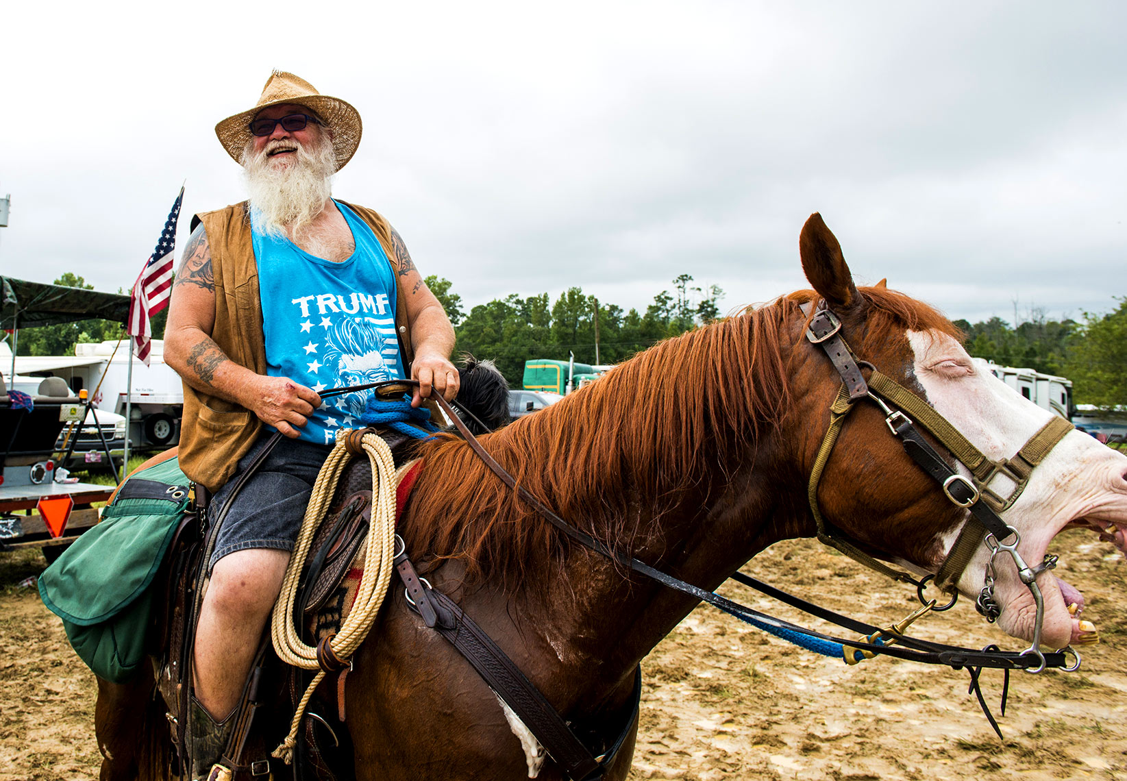 Trump supporter Mule days Benson Raleigh editorial photography