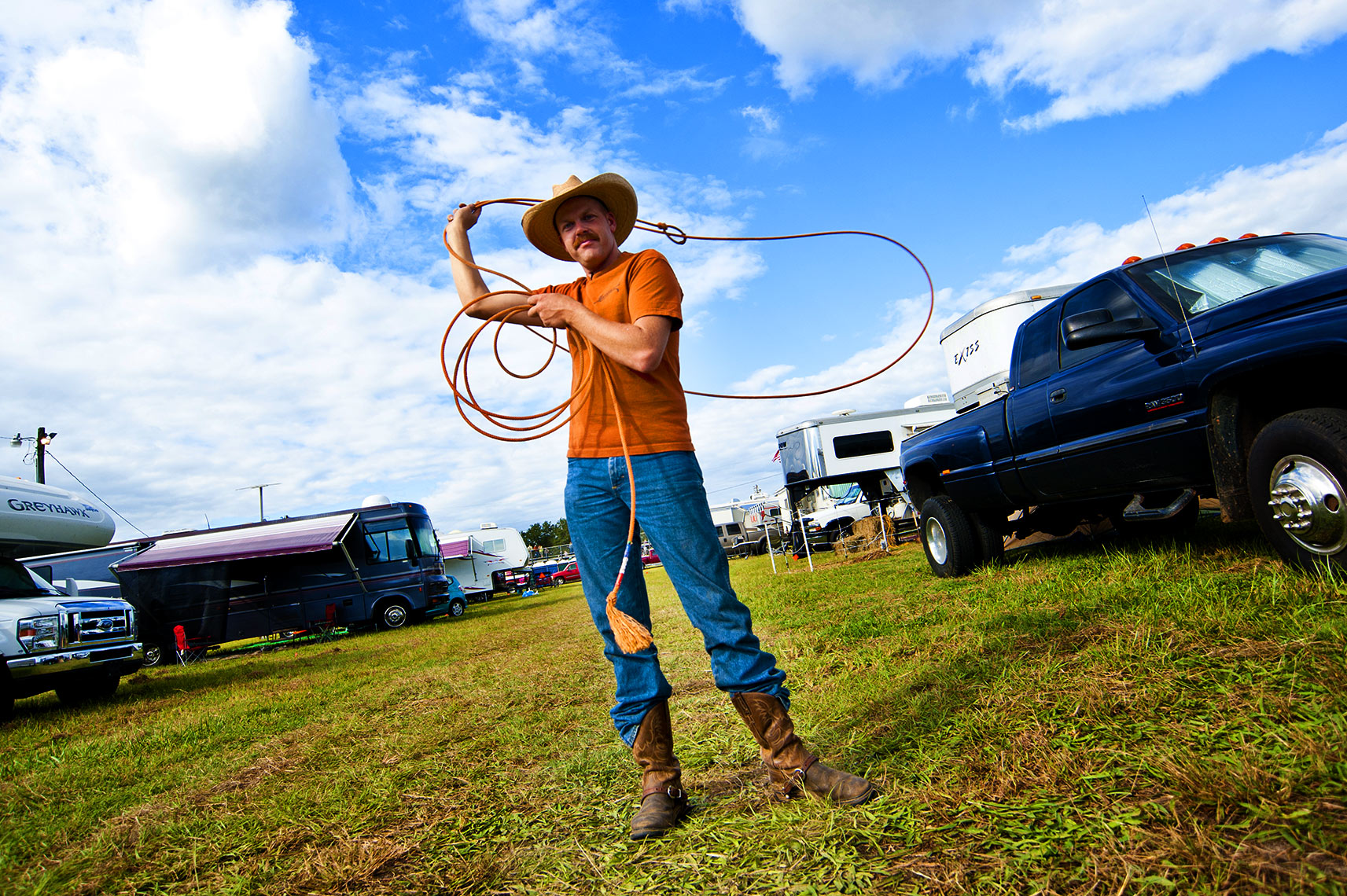 Raleigh portrait photography Bryan Regan cowboy and lasso