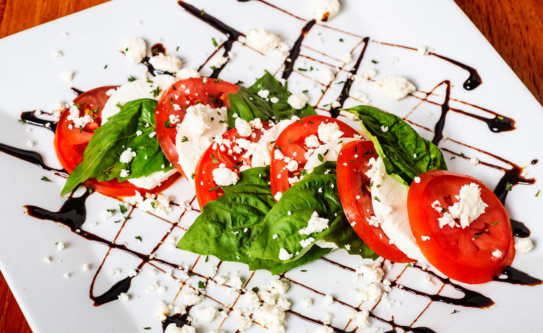 food photography Durham NC caprese salad  Bryan Regan