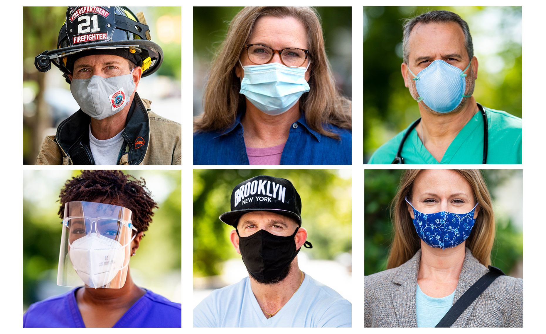 wear a mask campaign Raleigh portraits Bryan Regan photography