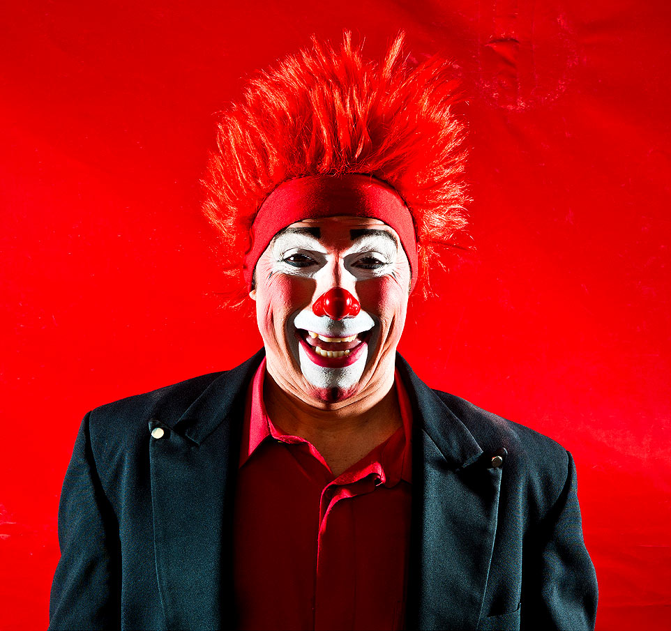 Raleigh Editorial photography Bryan Regan Cole Brothers Circus creepy clown