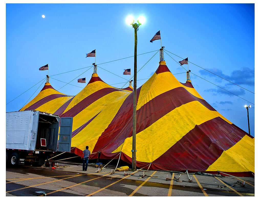 contemporary photography circus tent Raleigh NC