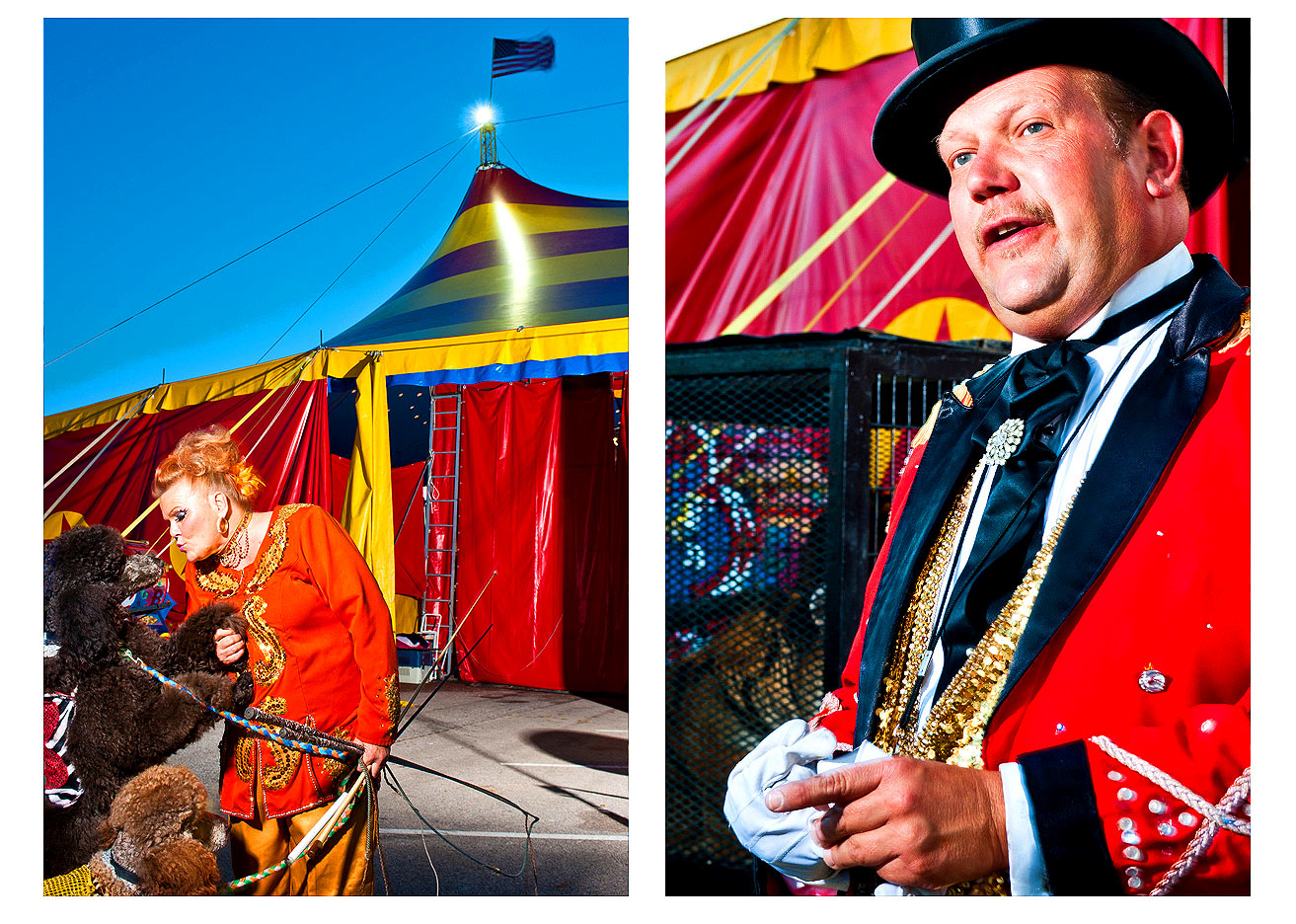 Portrait of the Ring Master circus Raleigh photography