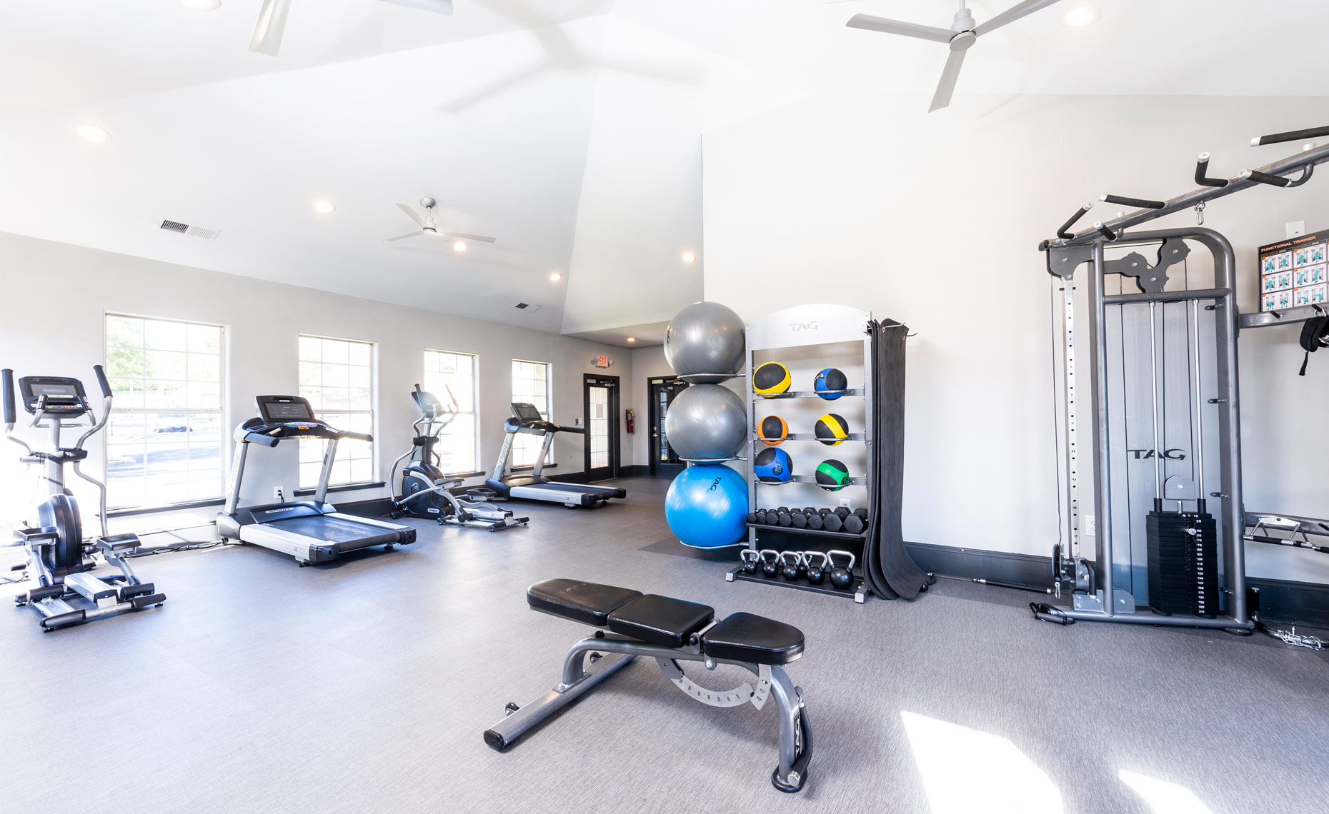 club house gym raleigh real estate photography Bryan Regan Brier Creek