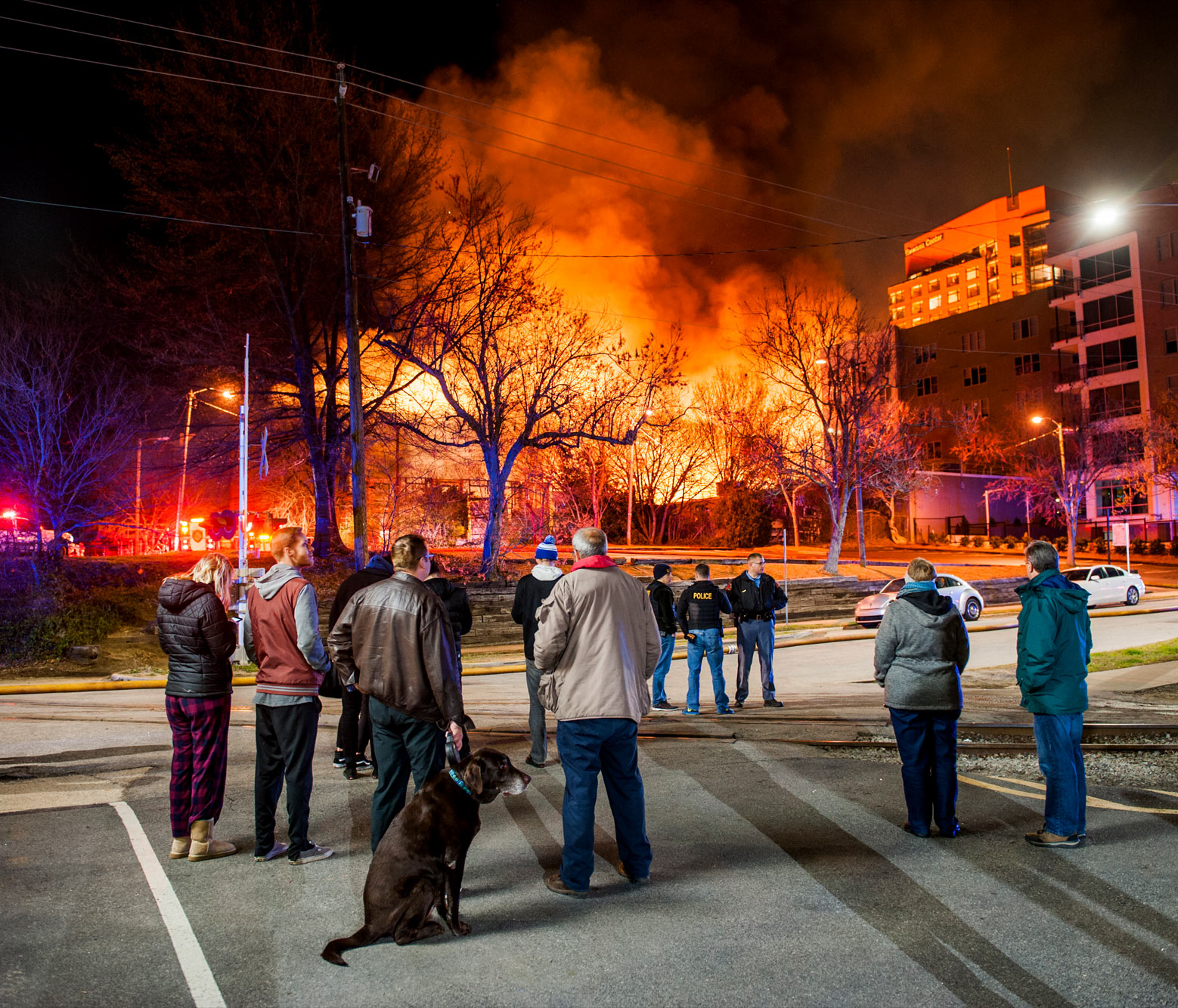 Raleigh reportage photography fire