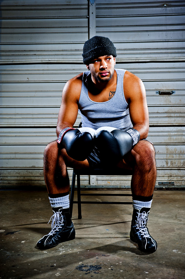 Raleigh boxing portrait photography