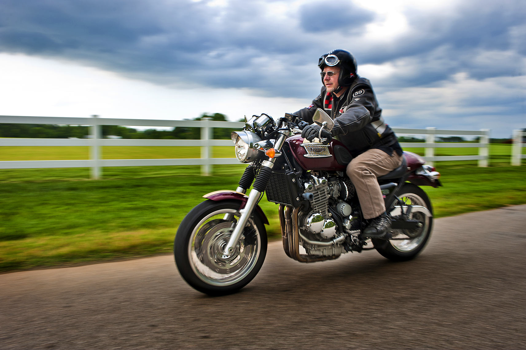 Raleigh editorial photography for triumph motorcycles