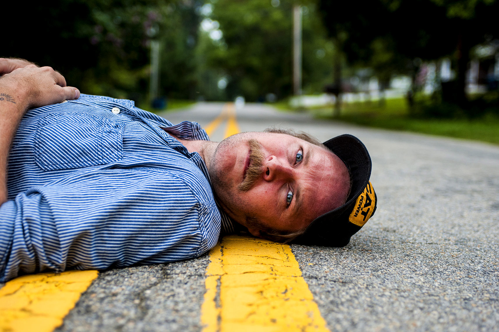 Raleigh portrait photography Hiss Golden Messenger for Washington Post