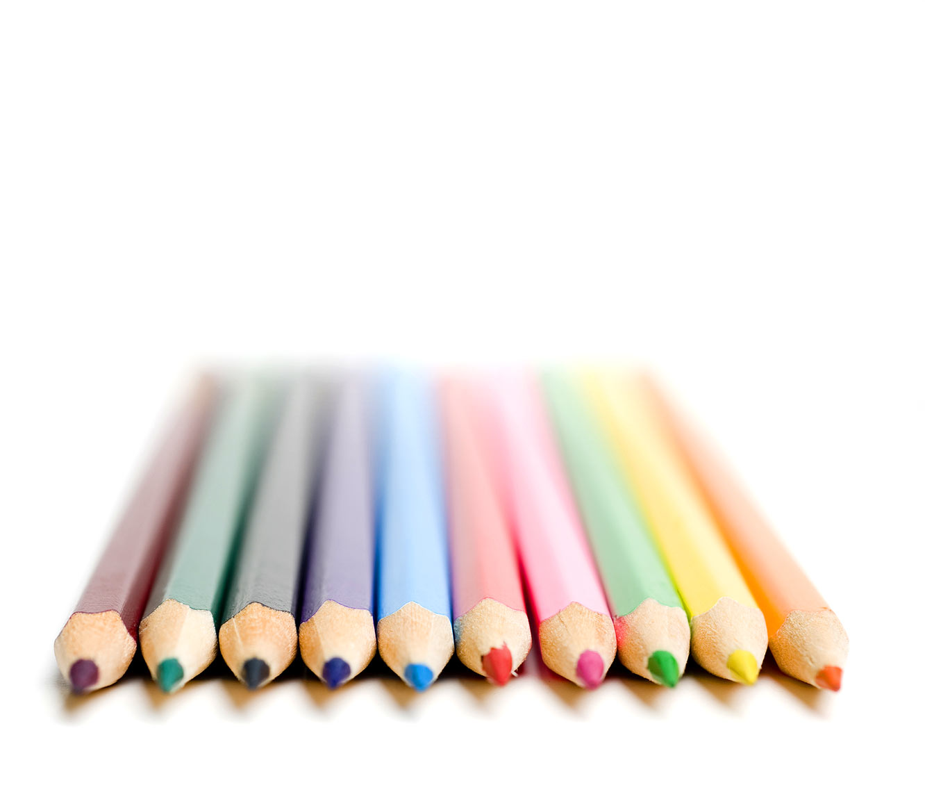 still life photographer Bryan Regan Raleigh colorful pencils for CREE