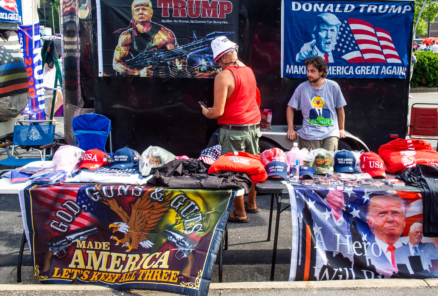 Vendors at Trump Rally Fayetteville NC